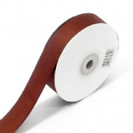 Dark Brown Grosgrain Ribbon 10mm X 25 Meters With Free Pack Of 12 White Tags
